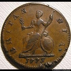 monnaie monde royaume uni george iii farthing 1775
