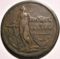 1811 HalfPenny Dunham & Yallop - Norwich...