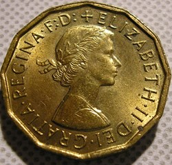 Elizabeth II - 3 Pence 1966 - UK