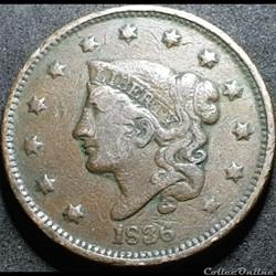 1836 One Cent (ex.2)