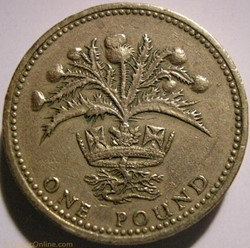 Elizabeth II - One Pound 1984 - UK