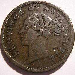 Victoria - One Penny 1840 - Nova Scotia