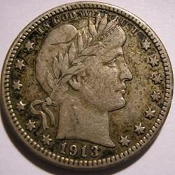 1913 Denver Quarter $