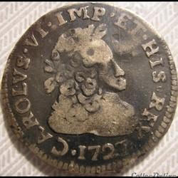 1727 Ducato di Milano, 10 Soldi o 1/2 Lira - Carlo VI d'Absurgo