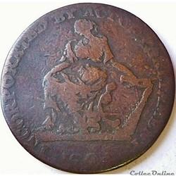 1794 HalfPenny - Ireland, Dublin Camac K...