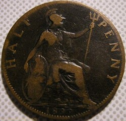Victoria - Half Penny 1899 - Great Brita...