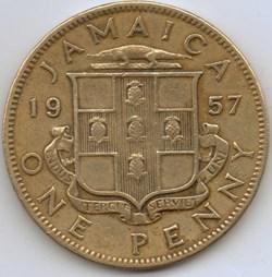 Elizabeth II - One Penny 1957 - Jamaica