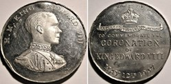 Edward VIII -  Coronation Medal 1937, UK