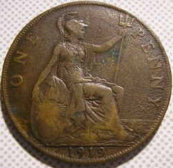 George V - One Penny 1919 - Great Britai...