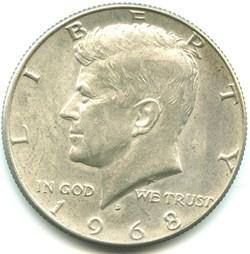 1968 Denver Half Dollar