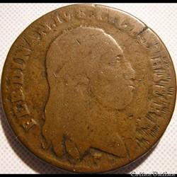 1800 Royaume de Naples, 6 Tornesi - Ferdinando IV de Bourbon-Siciles
