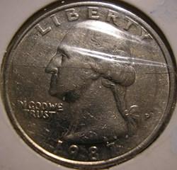 1987 P Quarter Dollar (2ex.)