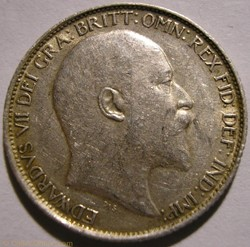 Edward VII - 6 Pence 1907 United Kingdom...