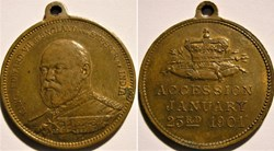Edward VII - 1901 Medalet of Accession o...
