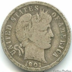 1901 New Orleans Dime