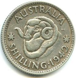George VI -  One Shilling 1942 S - Austr...