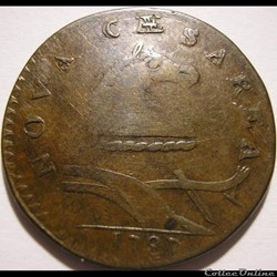 1787 Cent - New Jersey - Post-1776 - Sta...