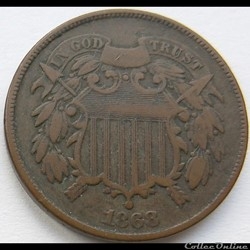 1868 Two Cents