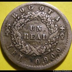 Colombia - 1 Real 1852 Bogota - Nueva Granada