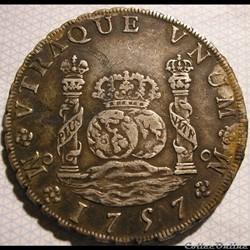 México - 8 Reales 1757 Mexico - Fernando...