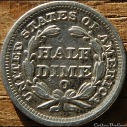 monnaie monde etat uni 1850 o half dime