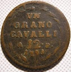 1793 Royaume de Naples, Grano / 12 Caval...