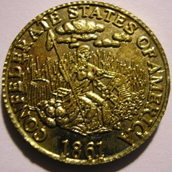 Confederate States of America - 5 Dollar...