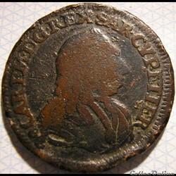 1741 Royaume de Sardaigne, 3 Cagliarese - Charles-Emmanuel III de Savoie