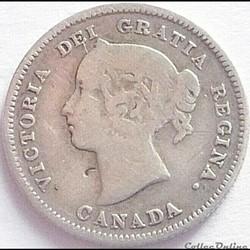 Victoria - 5 Cents 1886 - Canada