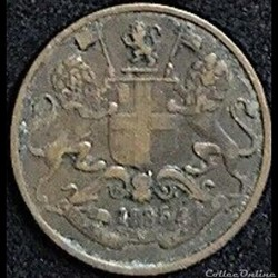 East British India Company - One Quarter Anna 1835 - William IV GB.