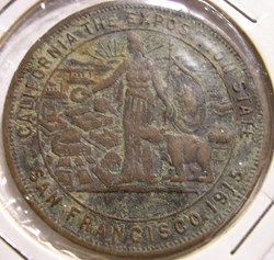 1915 Exhibition Token - Expo Panama Paci...