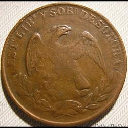 México - 1/4 Real 1863/2 Estado Sonora -...