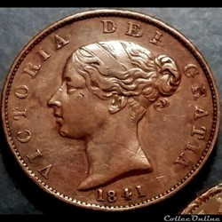 Victoria - HalfPenny 1841 - Kingdom of G...