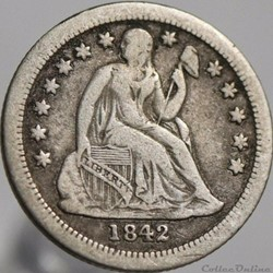 1842 o Dime / 10 Cents