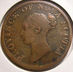 Victoria - HalfPenny 1840 - Nova Scotia