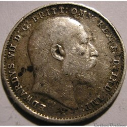 Edward VII - 3 Pence 1908 - United Kingdom of G.B.