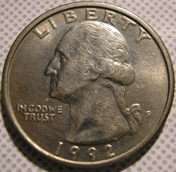 1992 P Quarter Dollar