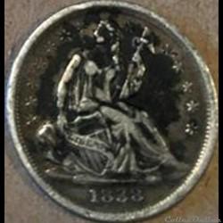 1838 Half Dime No Drapery (ex.2)