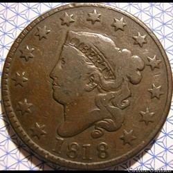 1818 One Cent (ex.2)