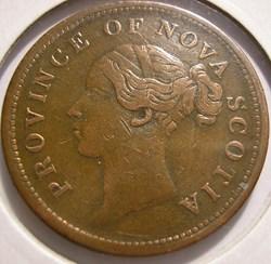 Victoria - One Penny 1843 - Nova Scotia