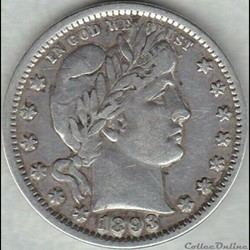 1893 Quarter Dollar