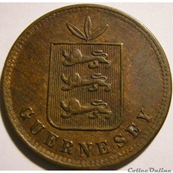 States of Guernsey - 4 Doubles 1864