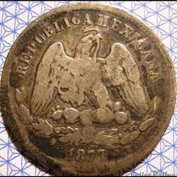 México - 25 Centavos 1877 Mo - 2nd Republic