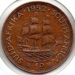 George VI - One Penny 1952 - South Afric...