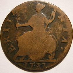1737 Half Penny No Regal - George II of ...