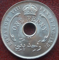Edward VIII - One Penny 1936 - West Afri...