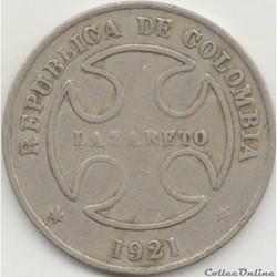 50 Centavos 1921 RH - LAZARETO / LEPROSA