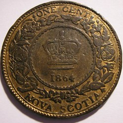 Victoria - One Cent 1864 - Nova Scotia