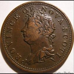 George IV - HalfPenny Token 1823 Nova Sc...