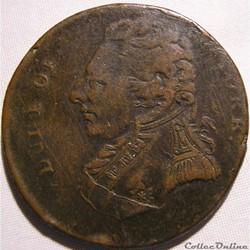 ca.1795 Duke of York HalfPenny - Middlesex